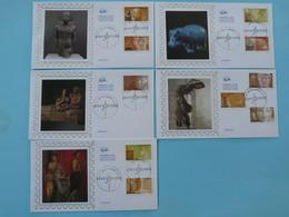 Série De 5 FDC Antiquités 2007 Ref 773 - 2000-2009