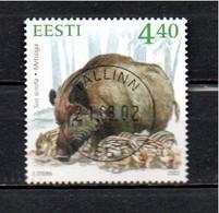 Timbre Oblitére D'Estonie  2002 - Estonia