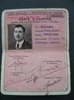 1939 1940 Carte D'identité Sous Officier De Carrière Donnant Droit Au Tarif Militaire à La SNCF Péronne Somme 80 - 1939-45
