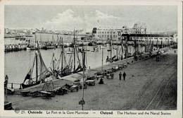 Ostende Le Port Et La Gare Maritime - Oostende