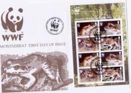 MONTSERRAT, 2006,WWF, LOCAL FDC,FROGS - Sin Clasificación