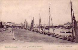 Blankenberghe Les Quais Et Le Bassin - Blankenberge