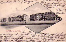 Heyst S/M Les Villas Circulée En 1900 !!!! - Heist