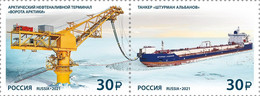 "Russia 2021 Russian Navy Тerminal ""Gates Of The Arctic"" & Тanker ""Navigator Albanov"" 2v MNH - Neufs"