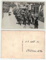 Suisse // Schweiz //  Vaud  // Château D'Oex, Cortège De Août 1936 Avec La Fanfare - VD Vaud