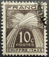 FRANCE Taxe N°67 Oblitéré - 1859-1955 Gebraucht