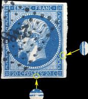 France - Yv.14A 20c Empire T.1 Planché 088D4 - Obl. Pc 2388 (PAU) - TB - 1853-1860 Napoléon III