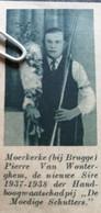 MOERKERKE( BIJ BRUGGE) 1938.. TIR A L'ARC.. PIERRE VAN WONTERGHEM DE NIEUWE SIRE - Non Classificati