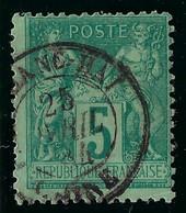 FRANCE Classique: Le Y&T 75, TB Obl. CAD Shang-Hai - 1876-1898 Sage (Tipo II)