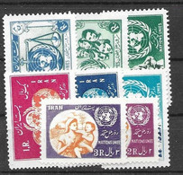Iran Mint LOW Hinged * UNO ONU Sets 1953-56 (17 Euros) - Iran