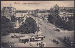 +++ CPA - ANTWERPEN - ANVERS - Place Et Rue De La Commune - Tram   // - Antwerpen