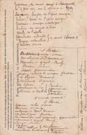 Carte Franchise Verso Programme Du Concert Donné à LONGUESAL ??? Le 2/5/1915 Avec Nom Des Participants ( Opéra Comique . - WW I