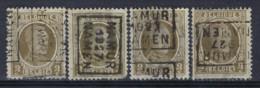 HOUYOUX Nr. 191 Voorafgestempeld Nr. 3891 A + B + C + D  NAMUR  1927  NAMUR ; Staat Zie Scan ! - Roller Precancels 1920-29