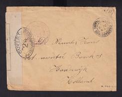 HOPITAUX 14/18 - Enveloppe En SM D'un Infirmier Belge Au Chateau De CHATEAUGIRON 1916 > Legerplaats HARDERWIJK En Bleu - Armada Belga