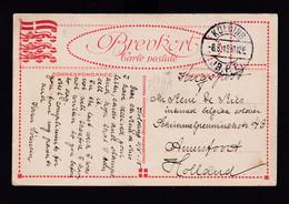 """INTERNES Belges En NL  - Carte En Franchise """" Krigspost"""" KOLDING Danemark 1918 Vers Le Camp De AMERSFOORT - Otras Zonas"""
