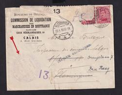 GOUVERNEMENT BELGE - Enveloppe TP Albert PMB 1916 Vers VLISSINGEN , Puis DEN HAAG - TTB Entete + Cachet - Armada Belga