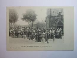 ST SORNIN LAVOLPS, La Sortie De La Messe - Other Municipalities