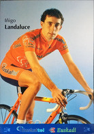 Postcard Inigo Landaluce - Euskaltel-Euskadi (serie With Bicycle) - 2002 - Wielrennen