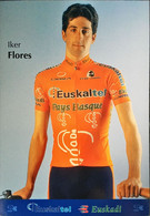 Postcard Iker Flores - Euskaltel-Euskadi (serie With Bicycle) - 2002 - Wielrennen