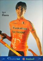 Postcard Igor Flores - Euskaltel-Euskadi (serie With Bicycle) - 2002 - Wielrennen