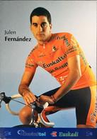 Postcard Julen Fernandez - Euskaltel-Euskadi (serie With Bicycle) - 2002 - Wielrennen