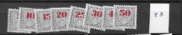 1940 MNH Liechtenstein Mi 21-28 - Postage Due