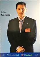 Postcard Julian Gorospe (team Manager) - Euskaltel-Euskadi - 2002 - Wielrennen
