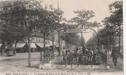 75 PARIS XIII La Stationde Métro Et Le Boulevard De La Gare LL CPA TBE - District 13