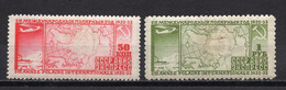 1932. RUSSIA,SOVIET,USSR,AIR MAIL,SECOND INTERNATIONAL POLAR YEAR,PAIR OF STAMPS,MH - Ungebraucht