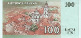 LITHUANIA P. 70 100 L 2007 UNC - Lithuania