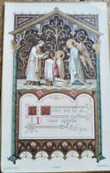 Image Religieuse Pieuse - Enluminure Image De Communion - Ed. Blanchard, Orléans TBE - Devotion Images