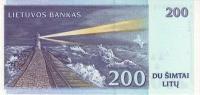 LITHUANIA P. 63 200 L 1997 UNC - Lithuania