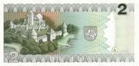 LITHUANIA P. 54a 2 L 1993 UNC - Lithuania