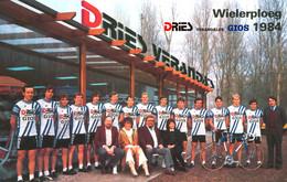 PHOTO RENFORCÉE GRAND QUALITE TEAM DRIES 1984 FORMAT 11,5 X 18 - Ciclismo