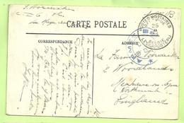 """Kaart HONFLEUR Van """"C.I. N°6"""" LA HAYE-DU-PUITS(centre D'instruction) PMB 25/2/16, + ARMEE BELGE C.I. 6° D.A. (3538) - Esercito Belga"""