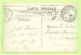 "Kaart PARIS, Verzonden Van ""Eu"" (Centre D'instruction) Naar ""Hopital Beveren"", Stempel PMB 4  (3563) - Esercito Belga"