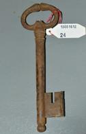 BELLE CLE CLEF HAUTE EPOQUE Serrure Ancienne Collection OLD KEY Réf.13051612-22 - Ferro Battuto