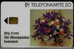 GERMANY 1992 PHONECARD FLIWERS 20 DM USED VF!! - Fiori