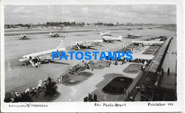 167613 BRAZIL BRASIL SAO PAULO AIRPORT CONGONHAS AVIATION PHOTO NO POSTAL POSTCARD - Unclassified