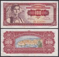 Jugoslawien - Yugoslavia 100 Dinara 1955 Pick 69 VF (3)  (26361 - Yugoslavia