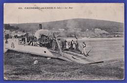 ***RARE CPA 76 CAUDEBEC EN CAUX (S.-Inf.) - Le Bac - Caudebec-en-Caux