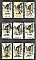 United States - Scott #1385 Used - 9 Different (3) - Plate Blocks & Sheetlets