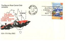 (YY 11) Australia FDC Cover - 1980 - Barron River Canoe Club - Canoa