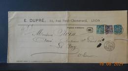 Lettre Pour Papiers D'affaires En Recommandé à Destination De Le Puy De 1897 - 1877-1920: Période Semi Moderne