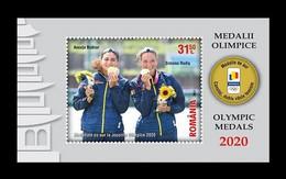 Romania 2021 Mih. 7906 (Bl.873) Romanian Tokyo 2020 Olympic Medalists MNH ** - Ongebruikt