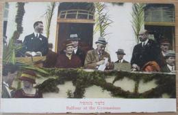 ISRAEL PALESTINE TEL AVIV YAFFA LEVANT ORDMANN 1925 LORD BALFOUR VISIT GYMNASIUM PHOTO CARTOLINA CPA CPM - Israel
