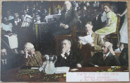 ISRAEL PALESTINE TEL AVIV YAFFA LEVANT ORDMANN 1925 LORD BALFOUR VISIT TOWNHALL MUNICIPALITY PHOTO CARTOLINA CPA CPM - Israel