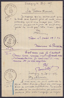 Note De Service Su Bureau De Poste De TINTIGNY 27 Juillet 1927 Pour Bureau De VILLERS-DEVANT-ORVAL - Covers & Documents