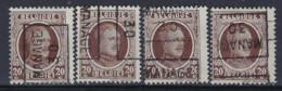 Houyoux Nr. 196 Voorafgestempeld Nr. 5508  A + B + C + D  MANAGE 30 ; Staat Zie Scan ! Inzet Aan 20 € ! - Rolstempels 1930-..