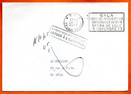 59 LILLE  ECOLE DES HAUTES ETUDES COMMERCIALES   1973 Lettre Entière N° RR 506 - Mechanical Postmarks (Advertisement)